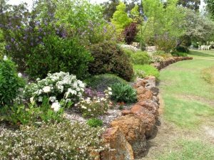 A garden with a low risk of bushfire attack.